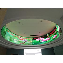 LED室内全彩显示屏:杭州余杭某展览馆