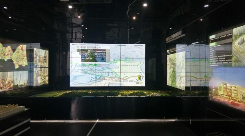 杭州余杭展厅46寸液晶拼接屏
