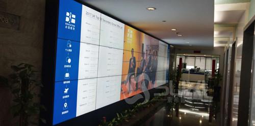 素希大屏幕拼接承建上海必益教育培训中心3×7液晶拼接屏项目