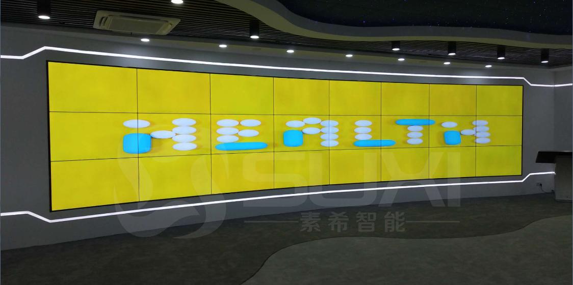 三星液晶拼接屏55寸(3*8)3.5mm企业展厅拼接屏