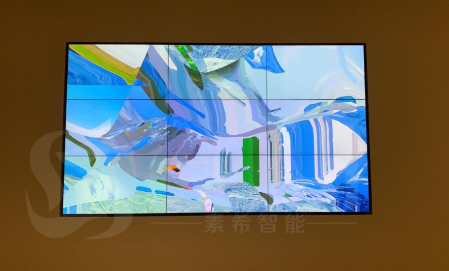 艺术画廊三星55寸液晶拼接屏案例