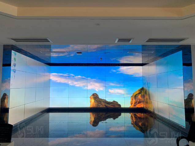 可视化展厅三面组合4*13大屏拼接屏
